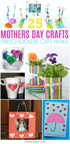 All the inspiration you need to make the most cherished Mothers Day crafts for preschoolers with 25 ideas for handmade gifts kids can make, handmade card ideas and super pretty crafts mums will love. #mothersday #mothersdaygift #kidscraft #preschool #kidsactivities