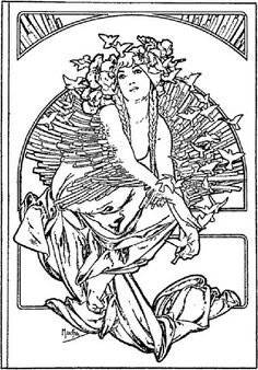 coverage for the volume of grandmothers songs 1897 alphonse mucha