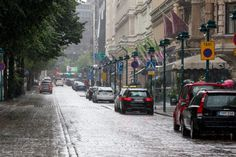 Pohjois-Esplanadi on a rainy day