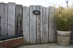 Railway Sleepers for the far wall where the outdoor shower will be