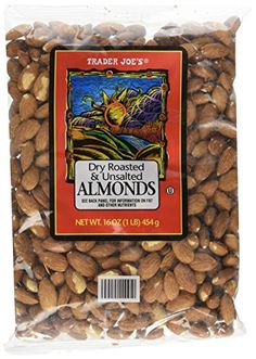 * Special offer just for you.: Trader Joe's Dry Roasted and Unsalted Almonds, 16 Ounce at baking desserts recipes.