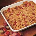 Crumb-Topped Rhubarb Recipe