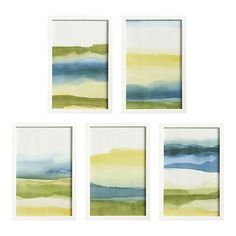 liquidity prints set, crate & barrel - I could easily recreate these with watercolors! I love a good arts and craft project.