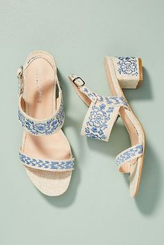 Chelsea Crew Fantasy Denim Heeled Sandals