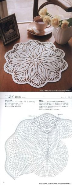 Crochet lace pattern tablecloth charts 66 Ideas for 2019 Filet Crochet, Crochet Doily Diagram, Crochet Mandala Pattern, Crochet Chart, Thread Crochet, Crochet Patterns, Crochet Circles, Crochet Dollies, Crochet Flowers