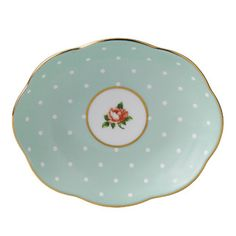 Large image of Royal Albert 100 Years Giftware 1930's Polka Rose Tray - opens in a new window