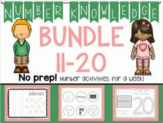 *BUNDLE* Number Knowledge: Numbers 11-20 (NO PREP!) from Wise Little Owls on TeachersNotebook.com -  (500 pages)  - ***Save by buying in a bundle!!   These activities include everything you need to learn all about the numbers 11-20.