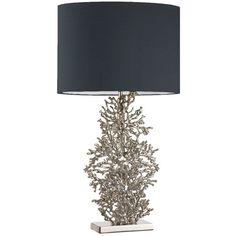 Heathfield & Co Lighting Heathfield & Co Atolli Table Lamp With Black... ($360) ❤ liked on Polyvore
