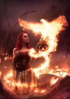 """Burn them, burn them all my minions!"" Do you like fire guys? The picture of girl is from faestock Fire Witch Beautiful Fantasy Art, Gothic Fantasy Art, Fantasy Artwork, Fire Photography, Fantasy Photography, Portrait Photography, Witch Aesthetic, Aesthetic Girl, Fantasy Creatures"