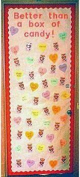 February Valentine's Day Door Bulletin Board Idea