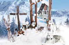 ❄ Winterdeko ❄  Jetzt nochmal dem Schaufenster einen winterlichen Touch einhauchen. www.abama.com #winterdeko #WinterDekoration #winterlichesSchaufenster #Décor #VisualMerchandising #Eiskristalle #Kunstschnee #DekoSchnee #DekoSchlitten #DekoIdeen #DekoShop #TheDecoCompany #abama