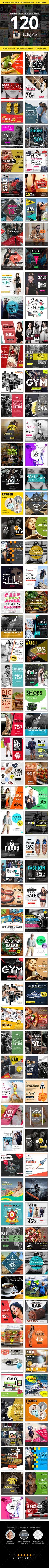 120 Instagram Promotional Design Template PSD. Download here: https://graphicriver.net/item/120-instagram-promotional/16976599?s_rank=286&ref=yinkira