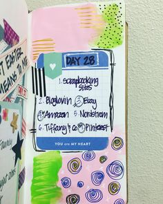Day 28: @30daysoflists #smashbook #artjournal #carlascreativelife #scrapbook #mtn #midoritravelersnotebook #scrapbooking #pocketpages #projectlife