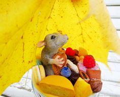 Купить Баночка с декором Запасливая мышь в интернет магазине на Ярмарке Мастеров