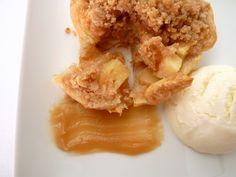 Apple Pie with Sour Cream Ice Cream & Maple Caramel
