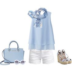 Like the sky by lenaick on Polyvore featuring moda, Uniqlo, ONLY, Tabitha Simmons, Michael Kors, Wildfox and Kate Spade