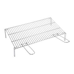 Sauvic 02450 - Barbecue grill with legs, in zinc plated steel, 55 x 40 cm.