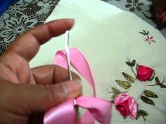 tutorial flor de liston de gasa2 - YouTube