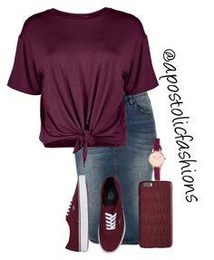 Apostolic Fashions #1498 by apostolicfashions on Polyvore featuring polyvore moda style Boohoo LE3NO Vans Radley Dagmar fashion clothing