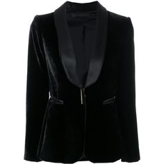 Francesco Paolo Salerno dinner blazer (79.065 RUB) ❤ liked on Polyvore featuring outerwear, jackets, blazers, black, blazer jacket, velvet jackets and velvet blazer