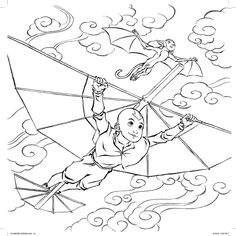 Avatar The Last Airbender Coloring Pages Darkhorse