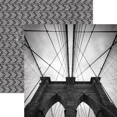 Accent a wall or your next layout with Brooklyn from the Noir Color Ways Collection from Paper House Productions. This 12 New York Scrapbooking, Noir Color, Brooklyn Bridge, Scrapbook Paper, Card Stock, I Shop, Fun, Prints, House