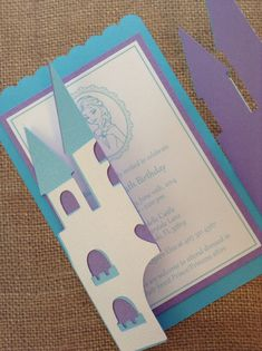 36x Deluxe Frozen Castle Invitations with by MyPrettyLittleParty