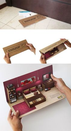 this is one design I have in mind and has definitely given me some really good ideas. I love the idea of having something like this come through the post and then opening it up and little parts pop out, bit like a pop up booklet, I think this is exciting and different. works really well and could use something like this for my existing brief.