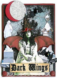 A Nostalgic Halloween: ATC - Dark Wings