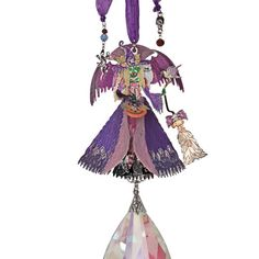 Divine Diva Crystal Ornament (Silvertone): Kirks Folly Online Web Store