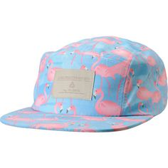 Everyone needs to put a bird on something, so get the Blue Flamingo Print 5 panel hat from Lira. This girls strapback hat features a flat bill, soft, flexible fit, and 5-panel construction with blue stitched eyelets to keep you cool. With a dark and light blue and pink colorway and Lira Creative Society patch at the front, the Flamingo print 5 panel hat gives you tropical vibes with iconic pops of pink.
