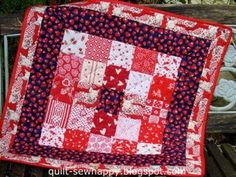 Quilt, sew Happy!: WIP-IT Wednesday: Country Village QAL Blocks & Giv... I Am Happy, Dollar Stores, Frugal, Thrifting, Saving Money, Wednesday, Giveaway, Christmas Crafts, Quilting