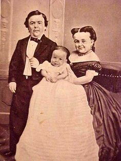 Mr. & Mrs. Tom Thumb and family  they were part of BT barnum's show of shows