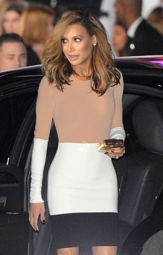 Dlisted | 'Glee' actress Naya Rivera nearly reveals a bit too much in her short Michael Kors dress! LA