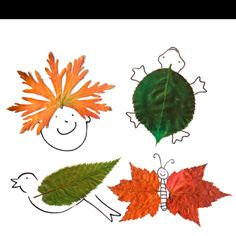 Leaf doodles! Fun way to talk about changing of the seasons.