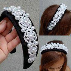 Tiara Ring, Diy Headband, Headbands, Beaded Jewelry, Beaded Bracelets, Selling Handmade Items, Diy Hair Accessories, Diy Hairstyles, Handmade Bracelets