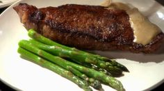 This pan seared strip steak recipe from Martha Stewart has a delicious mustard…