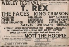 T Rex & Marc Bolan - uDiscover 70s Music, Rock Music, Music Concerts, Tour Posters, Music Posters, Band Posters, Hippie Posters, Arthur Brown, Mott The Hoople