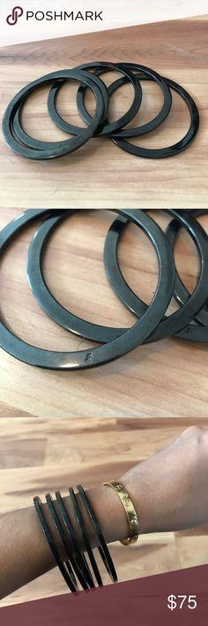 Jennifer Fisher set of 5 bangles Beautiful chrome bracelets. Jennifer Fisher Jewelry Bracelets