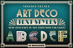 Art Deco Styles + Bonus Items by The Artifex Forge on Creative Market