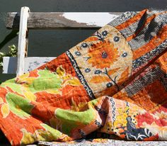 Shabbie — Marigold and Rose Vintage Kantha Throw