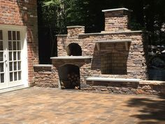 Fireplace with bread oven fireplace and pizza oven for Garden rooms rocal