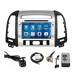 Special Offers - Car Stereo DVD Player for Hyundai Santa Fe 2007 2008 2009 2010 2011 2012 Double Din 7 Inch Touch Screen TFT LCD Monitor In-dash DVD Video Receiver Car GPS Navigation System with Built-In Bluetooth TV Radio Support Factory Steering Wheel Control RDS SD/USB iPod AV BT AUX IN Free Rear View Camera  Free GPS Map of USA - In stock & Free Shipping. You can save more money! Check It (July 12 2016 at 06:27PM)…