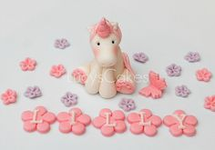 unicorn pony horse cake topper by www.lucys-cakes.com, via Flickr