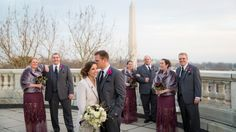From Erica & Doug's winter wedding at DAR in DC. Images by True Story Studios.