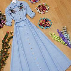 Çizgili Çiçek Nakışlı Uzun Elbise: 59,90₺  Bedenler: 36-38-40-42  Uzunluk: 140cm .  SİPARİŞ İÇİN WHATSAPP  ☎ 0543-838-22-91 . KAPIDA ÖDEME 3 GÜNDE TESLİMAT Kargo: 9 TL DEĞİŞİM GARANTİSİ