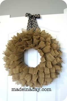 The Gunny Sack: Pinspired & Rewired Wreath Tutorial . . . you could make out of just about any stiff material.