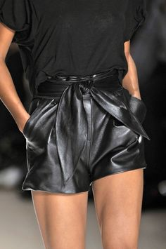 Leather shorts @Lotte van den Hout Steendam
