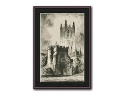 Canterbury Cathedral Counted Cross Stitch Pattern / Chart, Featherstone Robson, Instant Digital Download   (AP408) Canterbury Cathedral, Counted Cross Stitch Patterns, Landscape Architecture, Handmade Gifts, Frame, Chart, Etsy, Vintage, Digital
