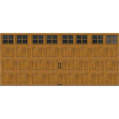 Gallery Collection 16 ft. x 7 ft. 6.5 R-Value Insulated Ultra-Grain Medium Garage Door with SQ22 Window